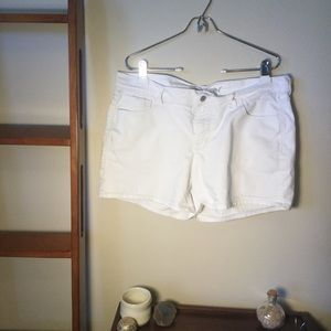White Jean Shorts by Old Navy